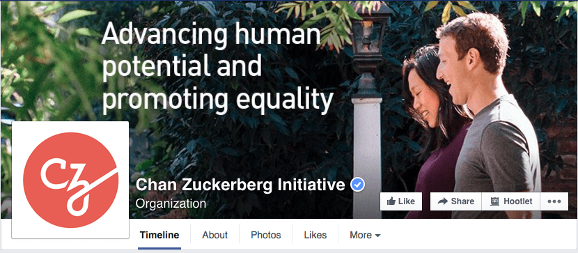 Chan Zuckerberg Initiative - Facebook Page