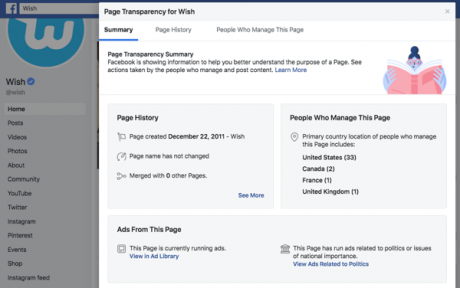 Facebook Page Transparency - Spy on your competitors - Social media marketing tips – DMAC
