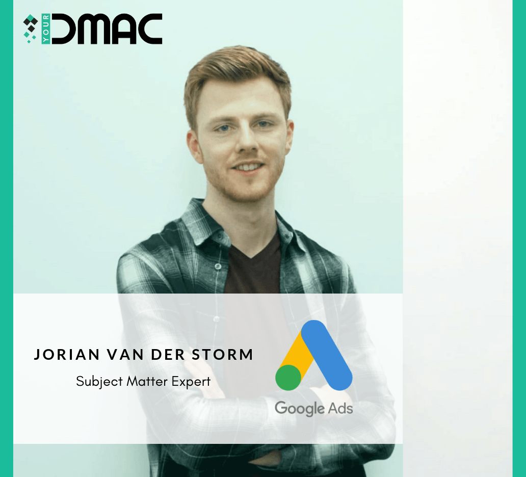 Jorian Van Der Storm - Google Adwords Subject Matter Expert - Digital Marketing Course Lecturer
